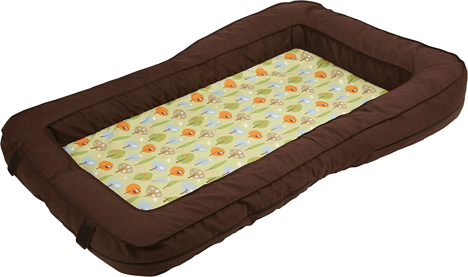 Leachco BumpZZZ Travel Bed Cover, Brown Green Forest Frolics