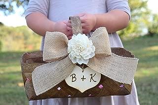 shabby chic flower girl basket