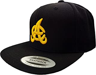 Aguilas Cibaeñas SnapBack Black Hat with Yellow Gold Logo