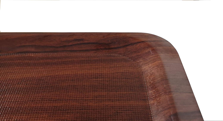 Staabs Gastro Bandeja rectangular marr/ón//laminado con superficie antideslizante bandeja para servir bandeja para vasos bandeja para camarero 34,5 x 24,5 cm soporte para vasos de cerveza