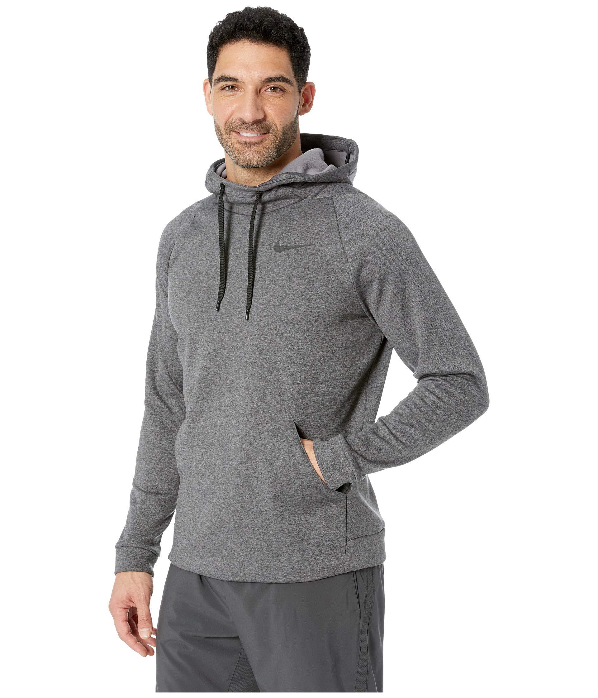 black Nike Heather Thermal Hoodie Pullover Charcoal 4qqHPUwv