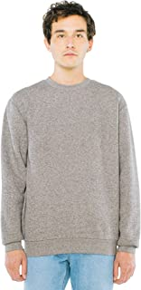 American Apparel Unisex Peppered Fleece Long Sleeve Pullover Crewneck