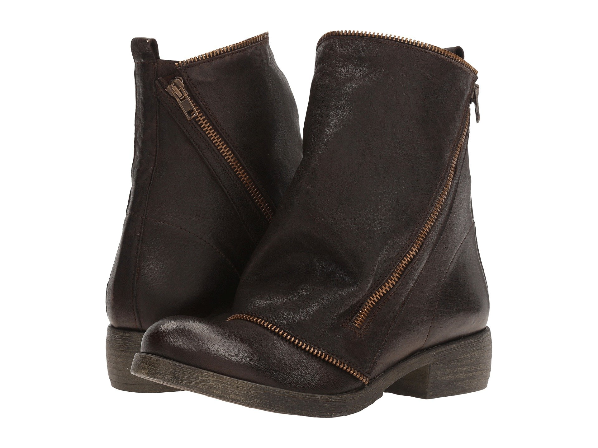MASSIMO MATTEO Low Boot With Zipper, Testa Di Moro