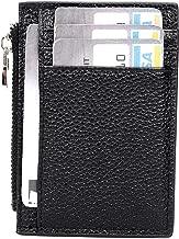 IVESIGN Travel Passport Wallet Trifold Envelope Document Organizer Holder With Free Pen (W-Black)