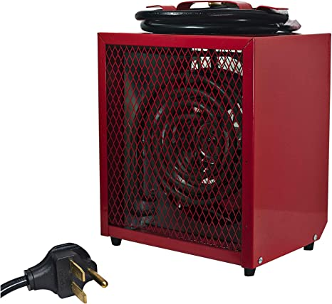 Comfort Zone CZ290 Portable 4800-Watt Fan-Forced Industrial Space Heater with Adjustable Thermostat Control and Safety Overheat Protection: image