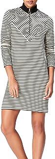 Marca Amazon - find. Vestido de Rayas con Cuello Alto para Mujer