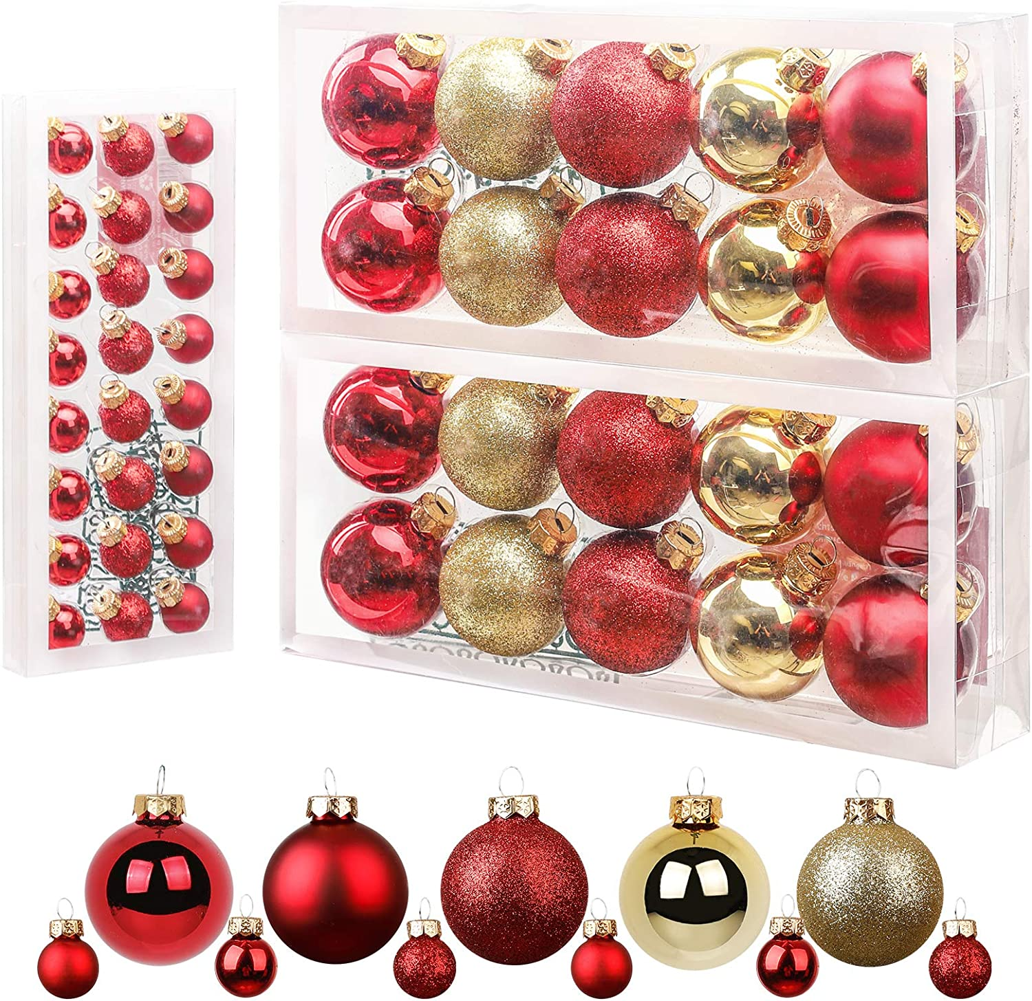 Homde Christmas Ranking TOP2 Ornaments 44ct Decora Tree Limited price sale Balls Glass