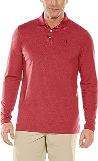Coolibar UPF 50+ Men's Coppitt Long Sleeve Weekend Polo Shirt - Sun Protective