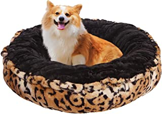 product image for Bessie and Barnie Chepard Luxury Ultra Plush Faux Fur Bagelette Pet/Dog Bed (Multiple Sizes)