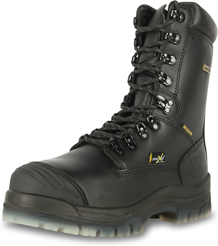 Oliver 45 Series 8  Leather Composite Toe Waterproof Men's Metatarsal Boots, Black (45675C)