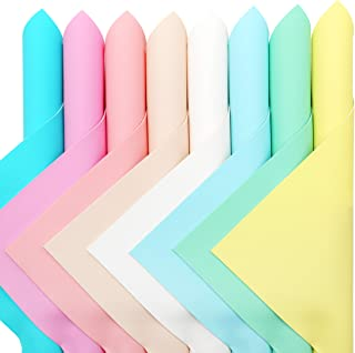 """ZAIONE 8pcs/Set 8"""" x 12"""" Macaron Pastel Colors Faux Leather Sheets Jelly Candy Assorted Solid Colors Fabric Bundle for Ear..."""