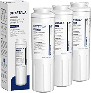 UKF8001 Water Filter, Compatible with Refrigerator Water Filter Whirlpool 4396395, Filter 4, Maytag UKF8001, EDR4RXD1, UKF8001AXX, UKF8001P, Puriclean II, 469006, by Crystala Filters (3 Pack)