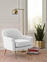 Elle Decor UPH10060C Ophelia Accent Chair, Ivory
