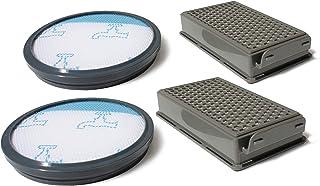 Poweka Filtro de Espuma y Filtro HEPA para Aspiradora Rowenta//Tefal//Moulinex Compact Power Cyclonic Series Reemplaza a ZR005901