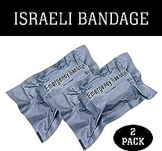 "LINE2design Israeli 4"" Compression Bandage - First Aid Wound Injury Sterile Battle Dressing - EMS Emergency Bleed Control Medical Trauma Bandage - Pack of 2"