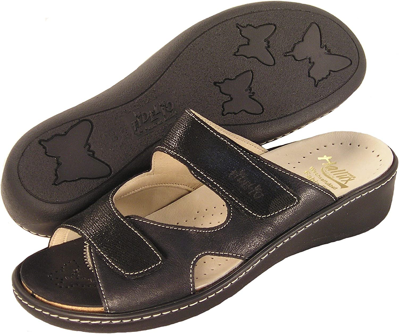 Fidelio Women's Hallux Fabia Bunion Relief Slide Sandal 434013 (Black)