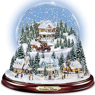 The Bradford Exchange Thomas Kinkade Victorian Christmas Village Snowglobe