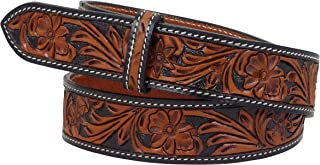 Thor Equine Western Cintura Floral tooled senza fibbia Cowboy Cowgirl Nature