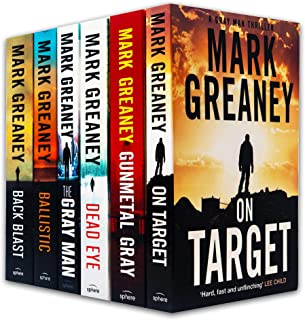 Mark Greaney Gray Man Trilogy 6 Books Collection Set (Back Blast, Dead Eye, On Target, Ballistic, The Gray Man, Gunmetal G...