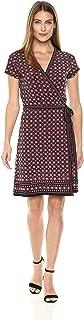 Amazon Brand - Lark & Ro Women's Short Sleeve Wrap Dress