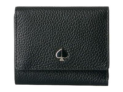Kate Spade New York Small Trifold Wallet (Black) Wallet Handbags