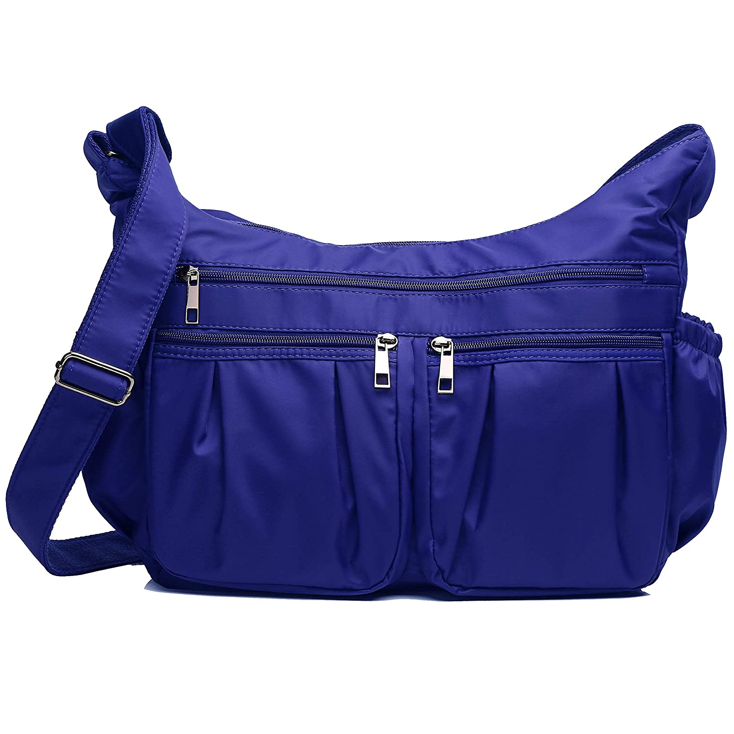 Crossbody Bags for Women, Multi Pocket Shoulder Bag Waterproof Nylon Travel Purses and Handbags
