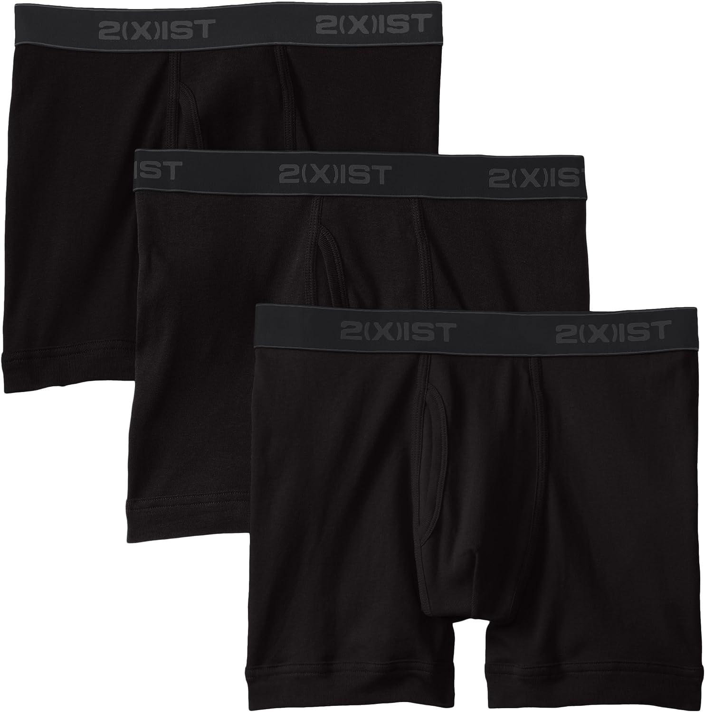2(X)IST Men's Essential Cotton Boxer Brief 3-Pack