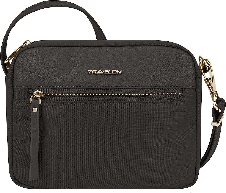 Travelon Addison-Anti-Theft-Small Crossbody Bag, Black, One Size