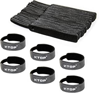 Reusable Cable Straps Wire Ties - Adjustable Cable Ties Releaseable Tidy Wrap - Hook and Loop Cable Straps Cable Tie (50pcs)