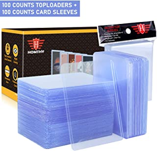 200 Counts Trading Card Sleeves TopLoader Set, Top Loader Penny Sleeves fit for Trading Card, MTG, Yugioh, Pokemon Card (I...