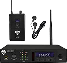 Nady PEM-1000 Band 2 583-607.750 MHz Wireless In-Ear Monitoring System With 100 Selectable UHF Channels And Auto Scan