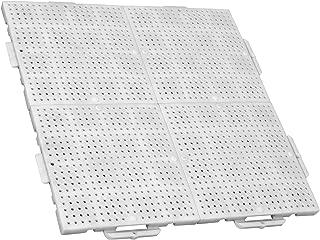 4 unidades de 50 x 50cm 16 baldosas de clic blanco TERRAGUIDE COLOUR Placas para suelo // terraza 1m/²