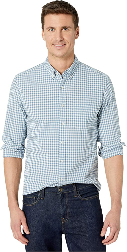 Dobby Gingham Heather Blue