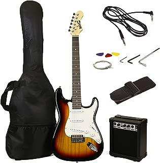 RockJam 6 ST Style Electric Guitar Super Pack with Amp, Gig Bag, Strings, Strap, Picks, Sunburst (RJEG02-SK-SB)