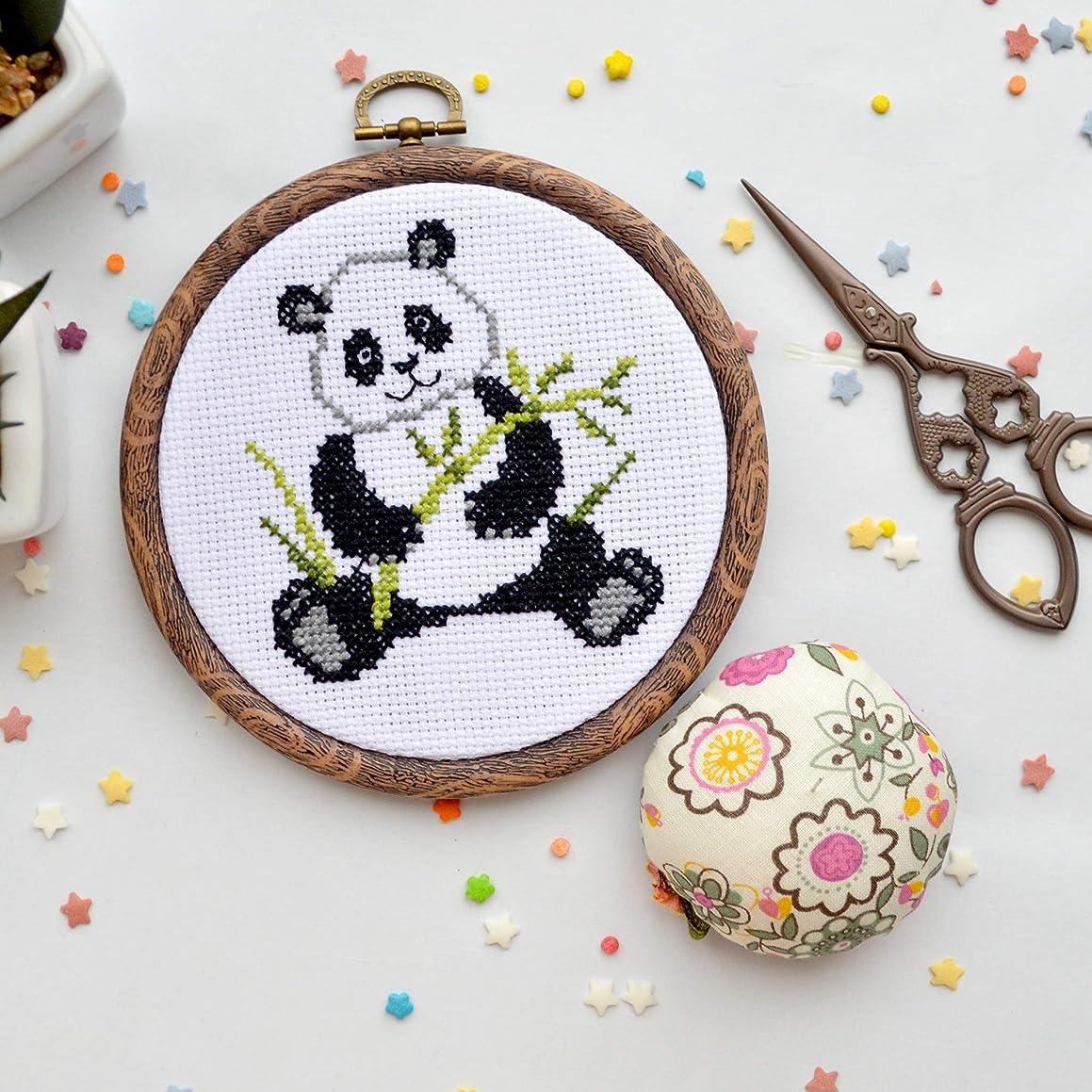 """Beginners Cross Stitch Kit with Pattern """"Panda"""""""