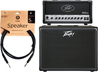 Peavey 6505 MH Mini Guitar Amplifier Head and 112-6 Guitar Enclosure and Cable