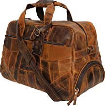 Handmade Leather Duffel Bag For Men | Airplane Travel Carry On Duffle Bag | Underseat Weekender Luggage By Rustic Town