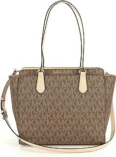 Michael Kors Dee Dee Signature Monogram Large Convertible Tote Handbag (Mocha)