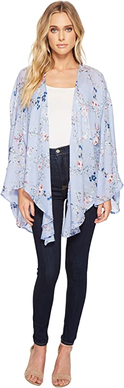 Collection XIIX Bud Floral Open Front Kimono