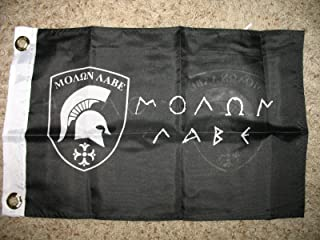 12x18 Molon Labe Come and Take It Flag Double Sided Spartan Black Greek