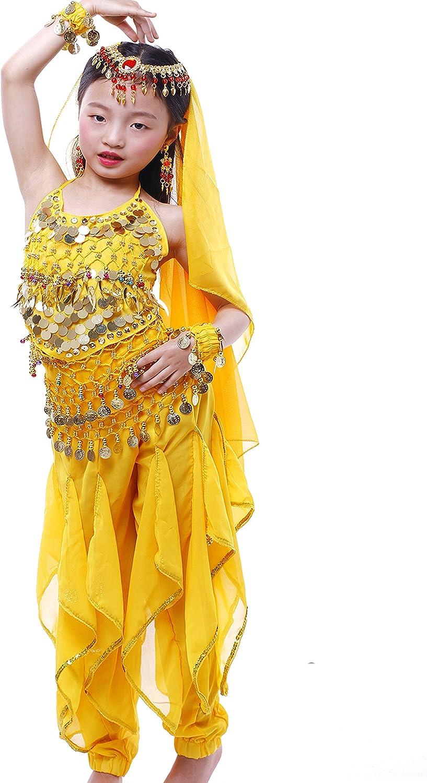 Astage Girls Arabian Princess Halloween Costume Genie Performance Belly Dance Sets