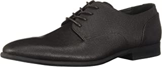 Calvin Klein Men's Lucca Hatched Embossed Leather Ankle-High Oxford