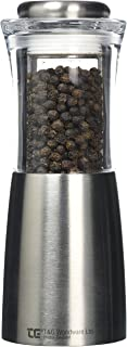T&G CrushGrind Apollo Pepper Mill, Stainless Steel and Acrylic, 150 mm