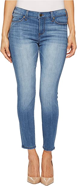 Liverpool - Petite Penny Ankle Skinny in Silky Soft Stretch Denim in Ridgeway Grind