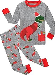 Family Feeling Little Boys Girls' Red Stripe Christmas Pjs Cotton Pajama Sets