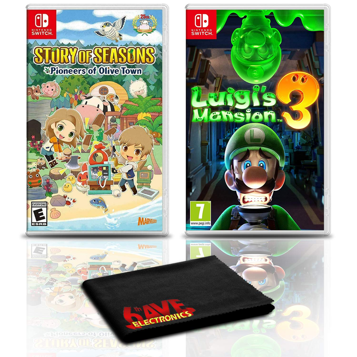 Story of Seasons: Pioneers of Olive Town with Luigi's Mansion 3 - 2-Pack Game Bundle For Nintendo Switch