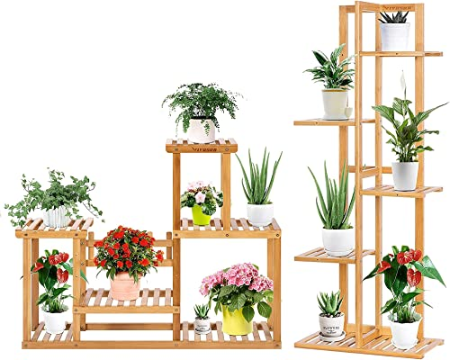 high quality VIVOSUN 5 Tier 6 Potted Bamboo Plant Stand, popular and 6 Tier outlet online sale 7 Potted Bamboo Plant Stand Multiple Flower Pot Holder online sale