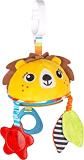 Benbat Dazzle Friends Travel Mirror Lion Hanging Toy for New Born and Above, Multi/Colour