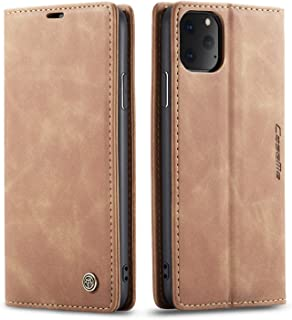 SINIANL Case for iPhone 11/11 Pro/11 Pro Max Leather Folio Flip Cover with Kickstand and Credit Slots