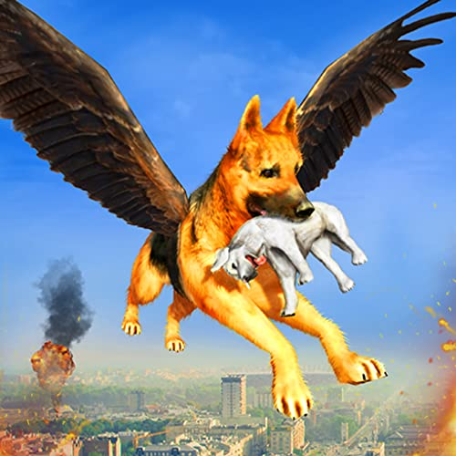 Real Flying Superhero Fighter Dog City Crime Chase Simulator: Ultimate US City Rescue Mission Games 2020